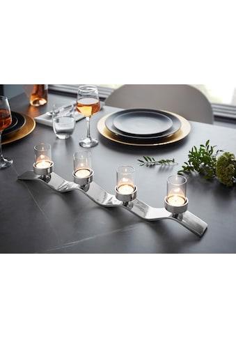 Fink Kerzenständer »WAVE«, aufwendige Handarbeit, für 4 Kerzen kaufen
