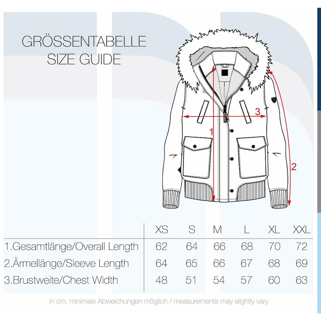 OXMO Winterjacke »Acila«, Wattierte Winterjacke mit Kapuze und abnehmbarem Kunstfellkragen