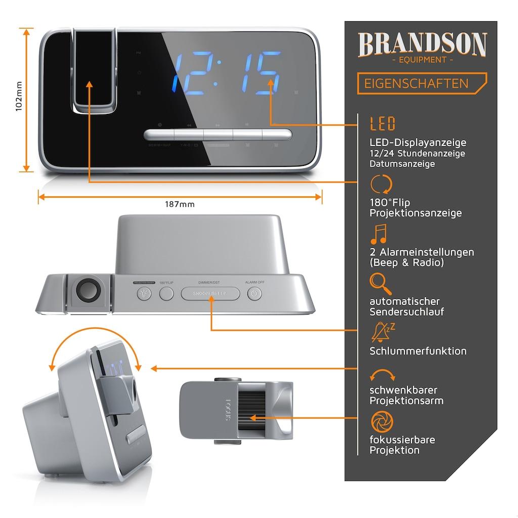 """Brandson FM Radiowecker mit 180° Flip-Projektionsanzeige »4,7"""" LED-Display / Auto/OFF-Dimmer«"""