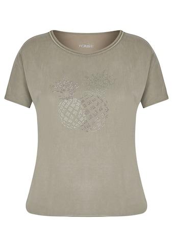 Rabe T-Shirt, mit unifarbenem Stoff und Glitzersteinen kaufen