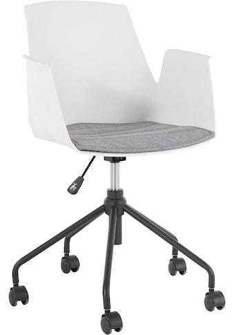 my home Schreibtischstuhl »Tayler«, mit einer Kunststoffschale und einem Webstoff... kaufen