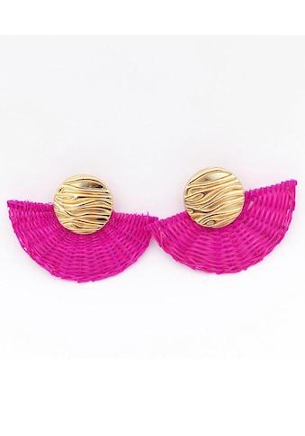 J.Jayz Paar Ohrclips »im strukturierten Design, auffallend, vergoldet« kaufen