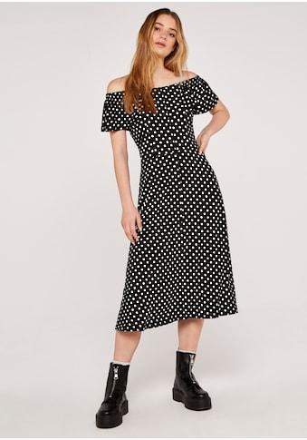Apricot Druckkleid »Polkadot Ruffle Bardot Dress«, mit Bardot-Ausschnitt kaufen