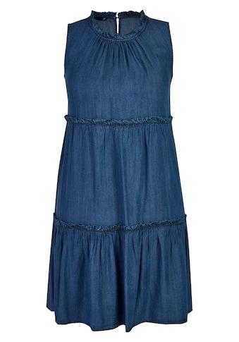 Thomas Rabe Kleid in Jeans - Optik mit Raffungen kaufen
