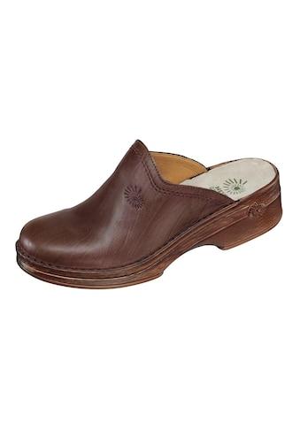 Helix Leder - Clog mit komfortablem Fußbett mit Kugelferse kaufen