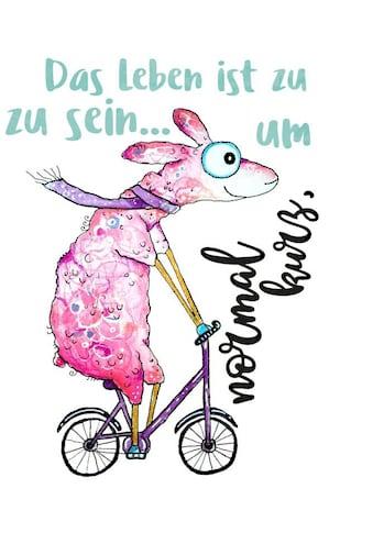 Wall-Art Wandtattoo »Das Leben ist zu kurz Schaf« kaufen