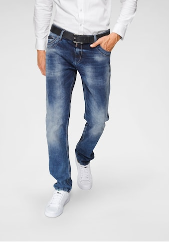 Cipo & Baxx Straight-Jeans »Red Dot« kaufen
