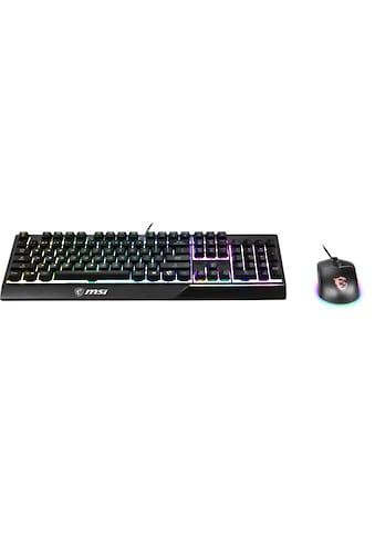 MSI Vigor GK30 DE Combo Gaming Tastatur + Maus »SOLIDE BASIS MIT MECHANISCHEM FEELING« kaufen