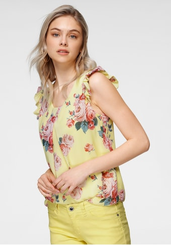 HaILY'S Chiffonbluse, mit Rüschenärmeln kaufen