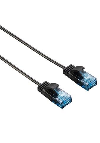 Hama CAT-6-Netzwerkkabel Slim-Flexible, Schwarz, 1,50 m kaufen