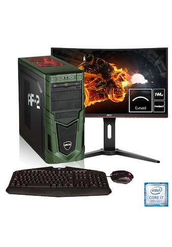 Hyrican Gaming PC i7 - 9700K, RTX 2060, 32GB RAM + 69 cm (27'') TFT »Military Gaming SET1792« kaufen