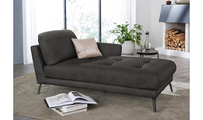 W.SCHILLIG Chaiselongue »softy«, mit dekorativer Heftung im Sitz, Füße schwarz pulverbeschichtet kaufen