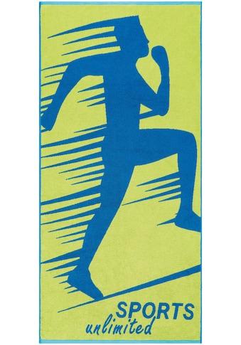Egeria Strandtuch »Sports Unlimited«, (1 St.), mit Kordelaufhänger kaufen