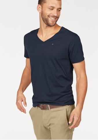 TOMMY JEANS T - Shirt »TJM ORIGINAL JERSEY V NECK TEE« kaufen
