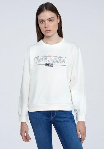 Pepe Jeans Sweater »BETSY«, mit aufgesticktem Marken-Namen im Brustbereich kaufen