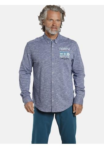 Jan Vanderstorm Langarmhemd »SULEVI«, Freizeithemd mit Melange-Garn kaufen