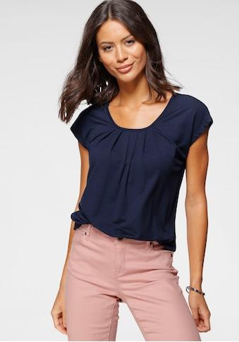 Laura Scott Rundhalsshirt, mit elastischem Bund kaufen