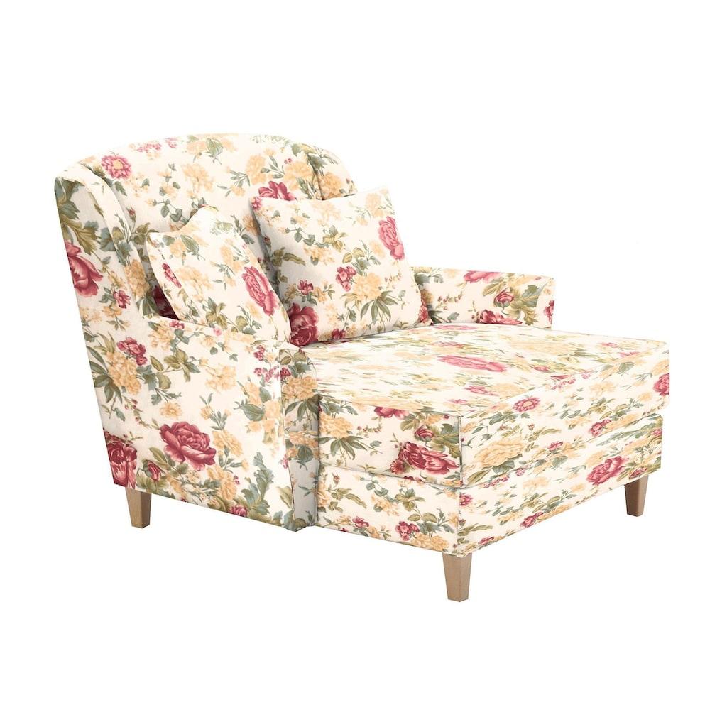 Max Winzer® Sessel »Julia«, mit naturfarbenen Holzfüßen