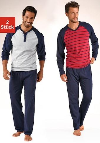 le jogger® Pyjama, in langer Form, mit Raglanärmeln kaufen