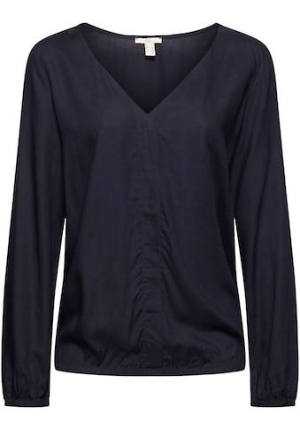edc by Esprit Shirtbluse, mit elastischen Saum- und Ärmelabschlüssen kaufen