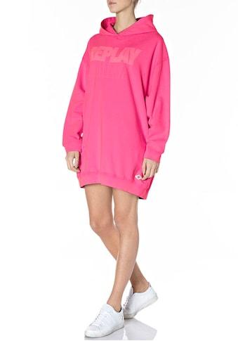 Replay Sweater, Vintage-Longsweater, Sweatkleid mit Kapuze & Used-Effekten -... kaufen