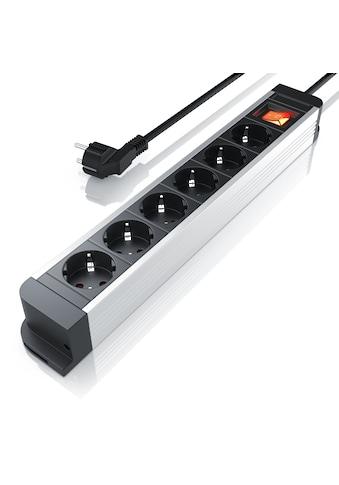 Arendo 6-fach Aluminium Steckdosenleiste / bis zu 3680W kaufen