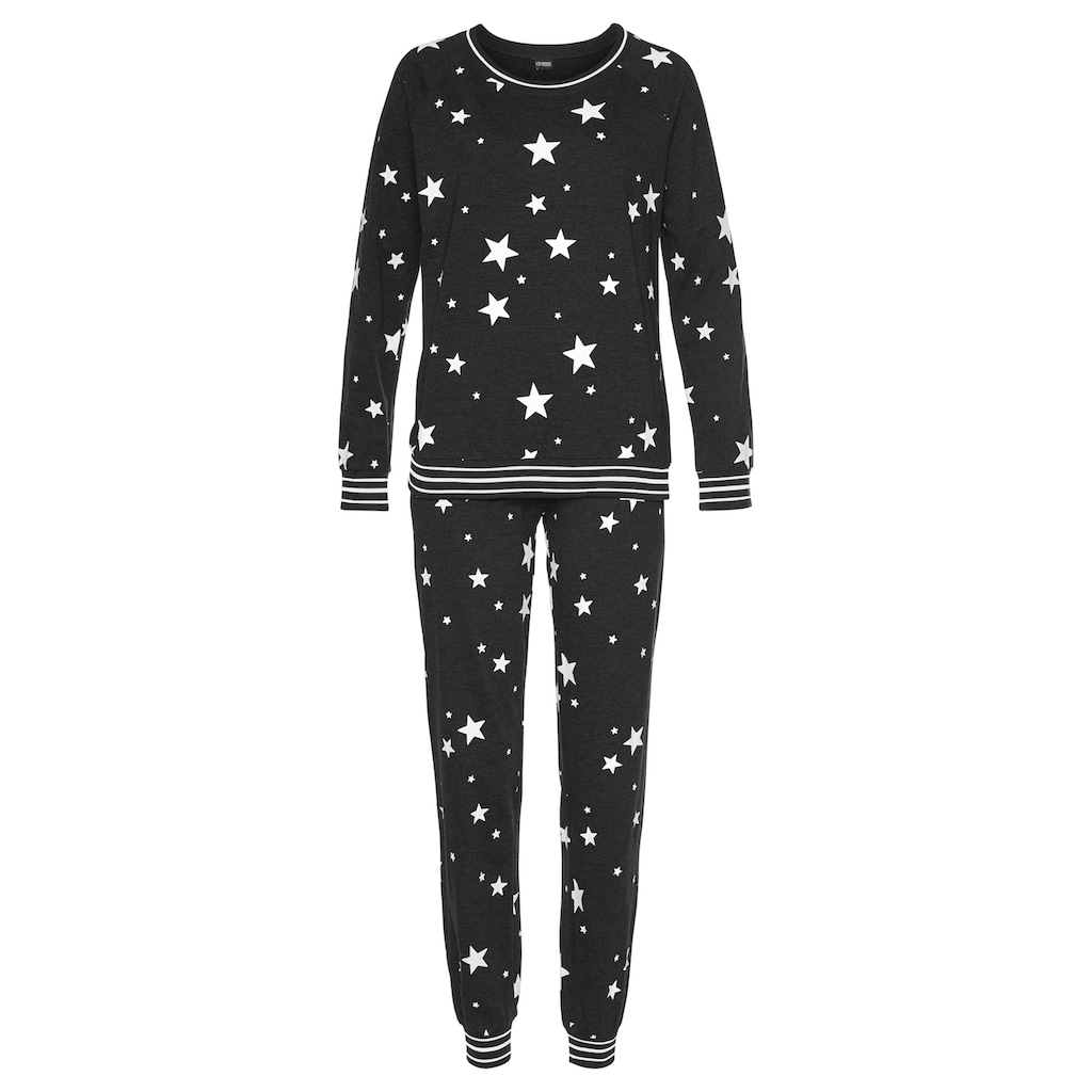 Vivance Dreams Pyjama, mit Sternedruck