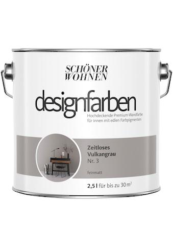 SCHÖNER WOHNEN-Kollektion Wandfarbe »Designfarben«, zeitloses Vulkangrau Nr. 3,... kaufen