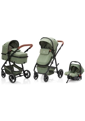 Fillikid Kombi-Kinderwagen »Panther, forest green/melange«, 22 kg, mit Babyschale;... kaufen