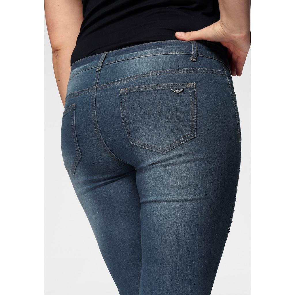 Arizona Skinny-fit-Jeans »im Biker-Look«, Low Waist