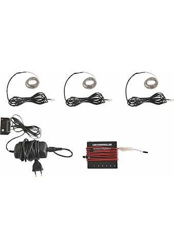 LED Schrankinnenraumbeleuchtung »RGB Flexband«, 3 St., Farbwechsler, (3 Stück) mit Funkfernbedienung kaufen