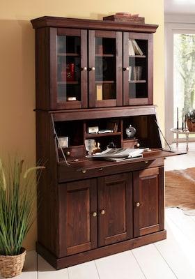 Sekretär aus dunkelbraunem Holz