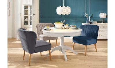 Home affaire Sessel »Narmada«, in drei verschiedenen Farben, mit schöner Raffung in... kaufen