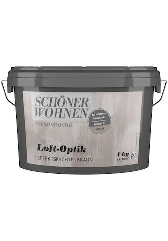 SCHÖNER WOHNEN-Kollektion Spachtelmasse »Loft-Optik Effektspachtel braun«, 4 kg kaufen