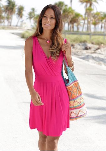 Beachtime Jerseykleid, mit tiefem V-Ausschnitt kaufen
