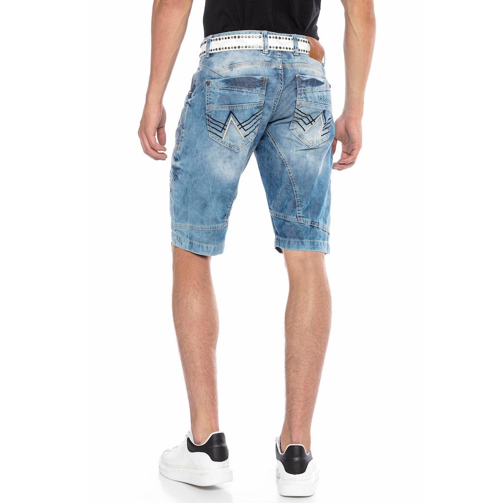 Cipo & Baxx Shorts, in markanter Waschung