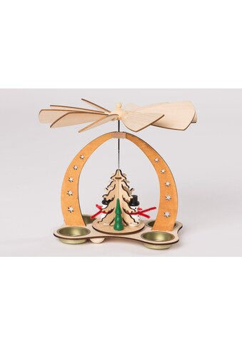 HGD Holz - Glas - Design Tischpyramide für vier Teelichte Schneemann kaufen