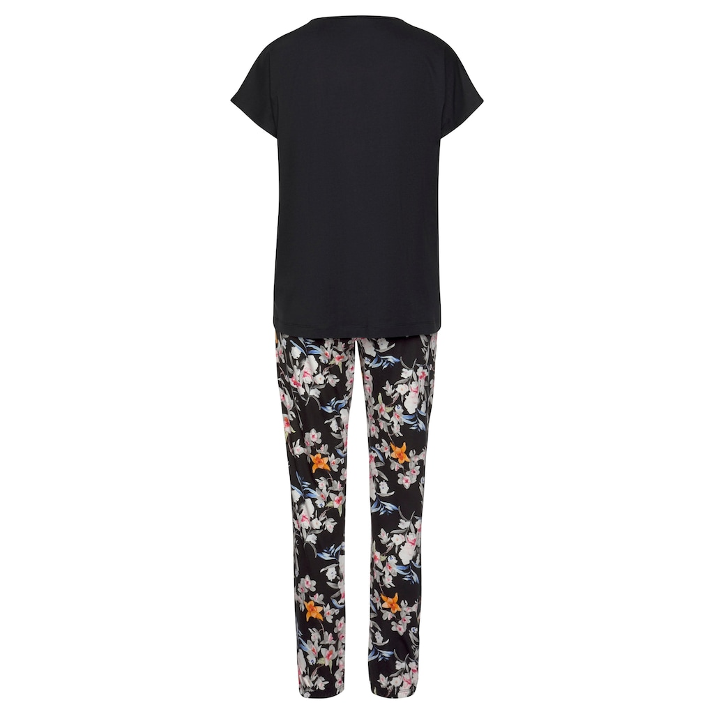s.Oliver Pyjama, mit Blumenmuster