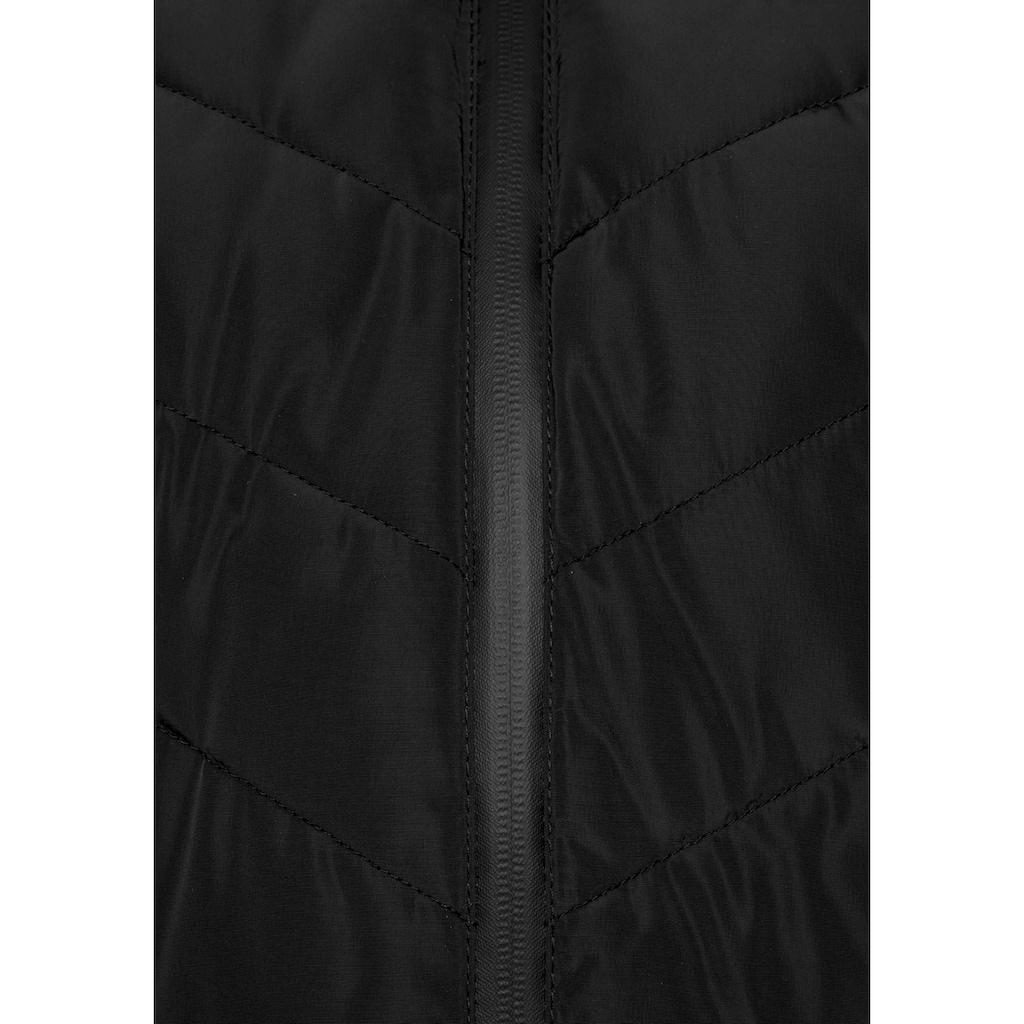 ALPENBLITZ Winterjacke »Pistenglück«, hochwertige Steppjacke m. voluminöser Fellimitat-Kapuze