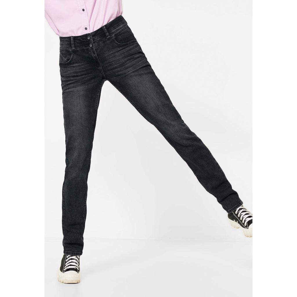 Cecil Loose-fit-Jeans »Style Scarlett«, mit schwarzen Spitzennieten