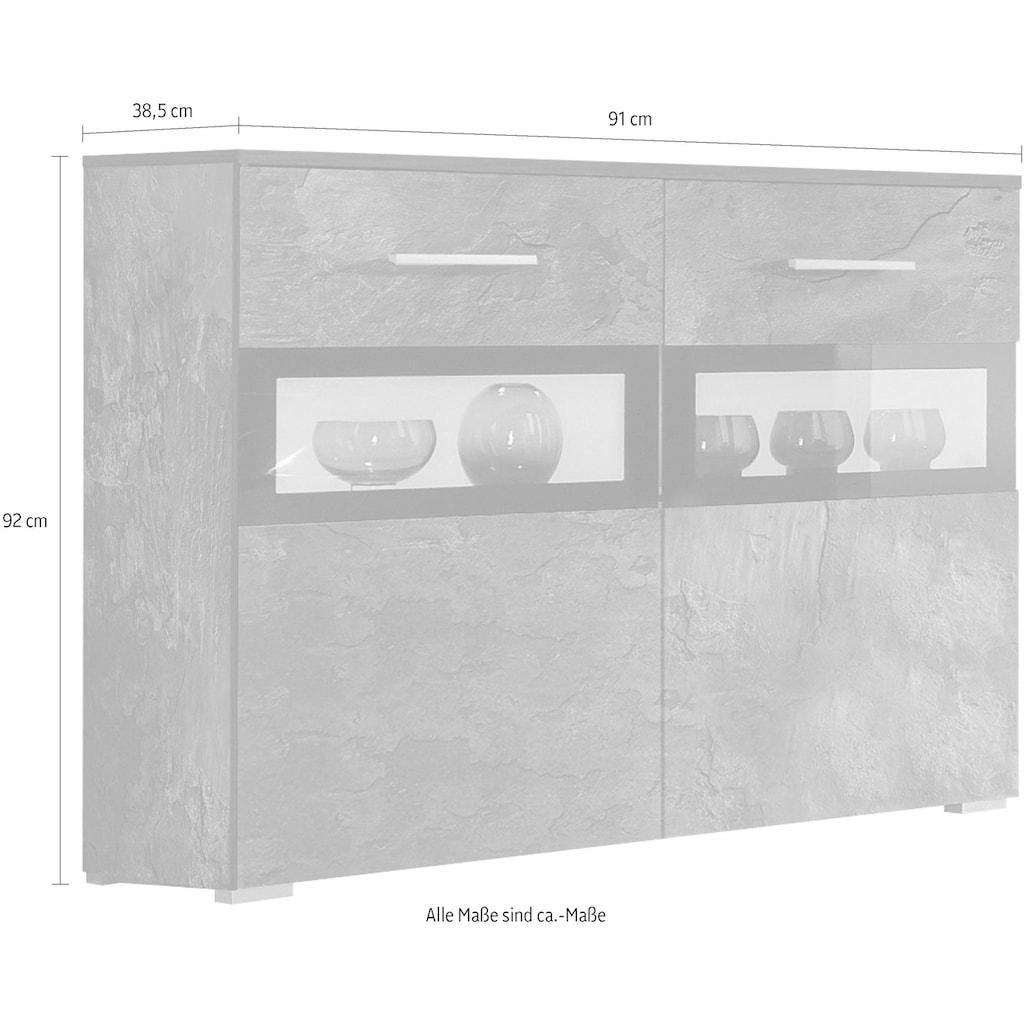 TRENDMANUFAKTUR Sideboard »Sarah«, Breite 91 cm