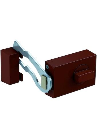 BASI Kastenriegelschloss »KS 500«, Dornmaß 60 mm - braun (eckig), Sperrbügel kaufen