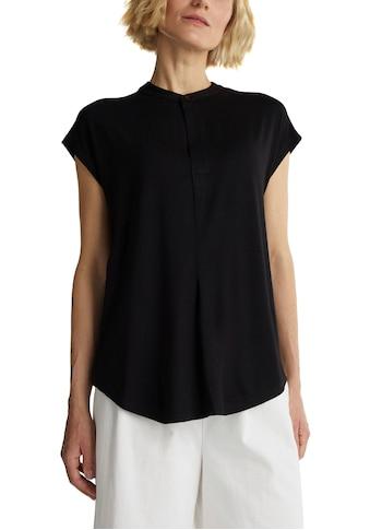 Esprit Collection T-Shirt, mit kleinem Stehkragen mit Knopf kaufen