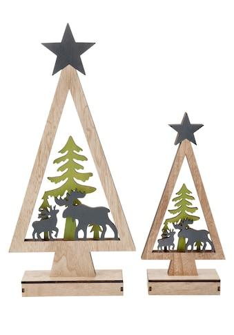 ,LED Dekoobjekt»Baum mit Rentieren«, kaufen