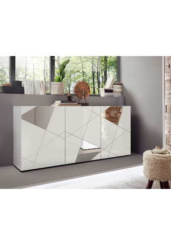 LC Sideboard »Vittoria Sideboard«, Breite 181 cm, Front mit Siebdruck und Spiegel kaufen