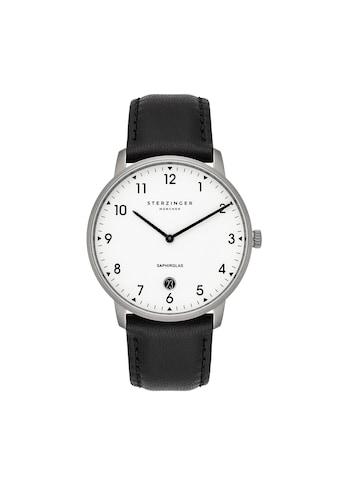 Sterzinger Quarzuhr »SM009«, (1 tlg.), Armband aus Echtleder, Made in Italy kaufen