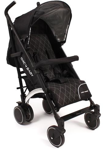 CHIC4BABY Kinder-Buggy »Luca black«, mit schwenkbaren Vorderrädern kaufen