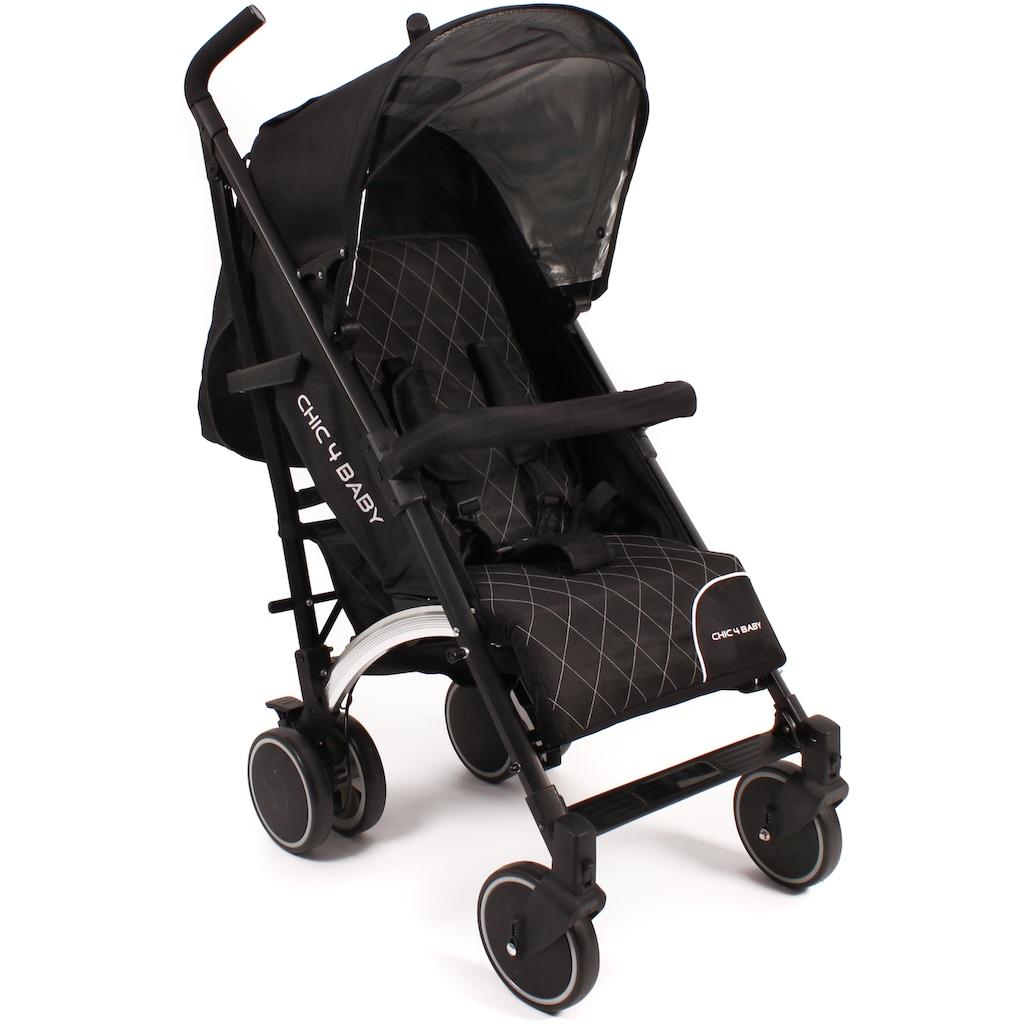 CHIC4BABY Kinder-Buggy »Luca black«, mit schwenkbaren Vorderrädern