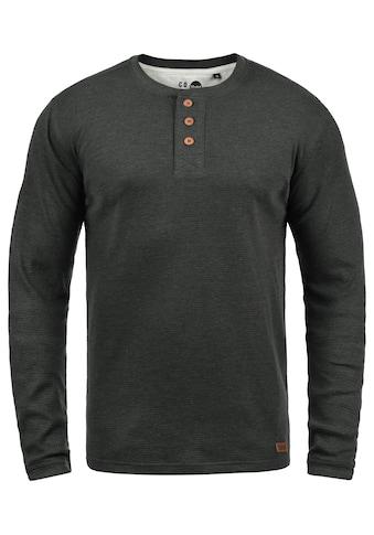 Solid Rundhalsshirt »Tokato«, Longsleeve mit Knopfleiste kaufen