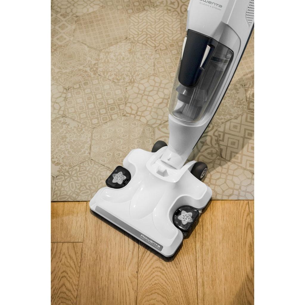 Rowenta Dampfreiniger »Dampfreiniger + Staubsauger Clean&Steam Revolution RY7757«, 2 Funktionen in einem Gerät; 1500 Watt; Weiß